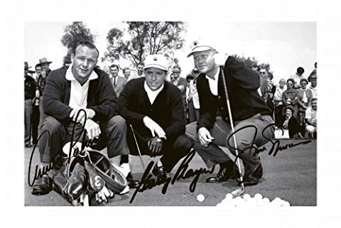 Arnold Palmer & Gary Player & Jack Nicklaus Signed Autographed 21cm x 29.7cm A4 Photo Poster