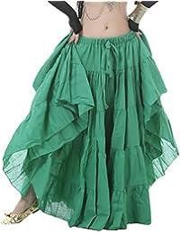 YiJee Danza del Vientre Falda Tribal Larga Falda de la Mujer