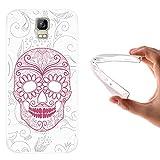 WoowCase Umi Rome Hülle, Handyhülle Silikon für [ Umi Rome ] Weißer zuckeriger Totenkopf Handytasche Handy Cover Case Schutzhülle Flexible TPU - Transparent