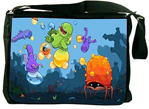 Snoogg Monster Kids Playing 2658 Laptop Messenger Bag