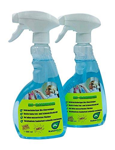 KaiserRein Bio Glasreiniger Set 2 x 500 ml Oberflächen und Fenster-Reiniger Spray