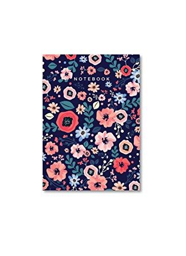 Supple Room Designer Midnight Blue Floral Notebook | A5 Size