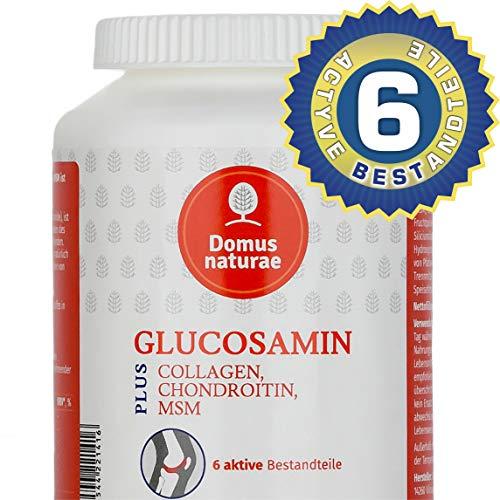 GLUCOSAMIN PLUS CHONDROITIN, MSM, COLLAGEN ist Komplex von 6 aktiven Stoffen, 60 Tabletten -