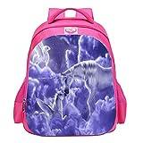 XAJGW Einhorn Student School Rucksäcke, Jungen und Mädchen Mode Unicorn Geschenke Regenbogen Taschen, Einhorn gedruckt Rucksäcke Lustige Reisegepäck lässig Daypacks (Farbe : Style F)