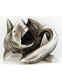 Buckle Haie in 3D, Shark Attack, Hai, Tigerhai, Gürtelschnalle