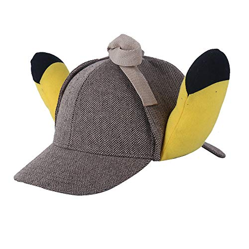 K-Y YK Pokémon Detective Pikachu hat Fairy Treasure Dream cos Dress up Ear hat Cute Funny Sunshade Sun hat