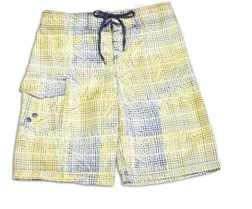 Just Knochen boardwear Jungen Hunden Plaid Shorts, Jungen, blau/grün