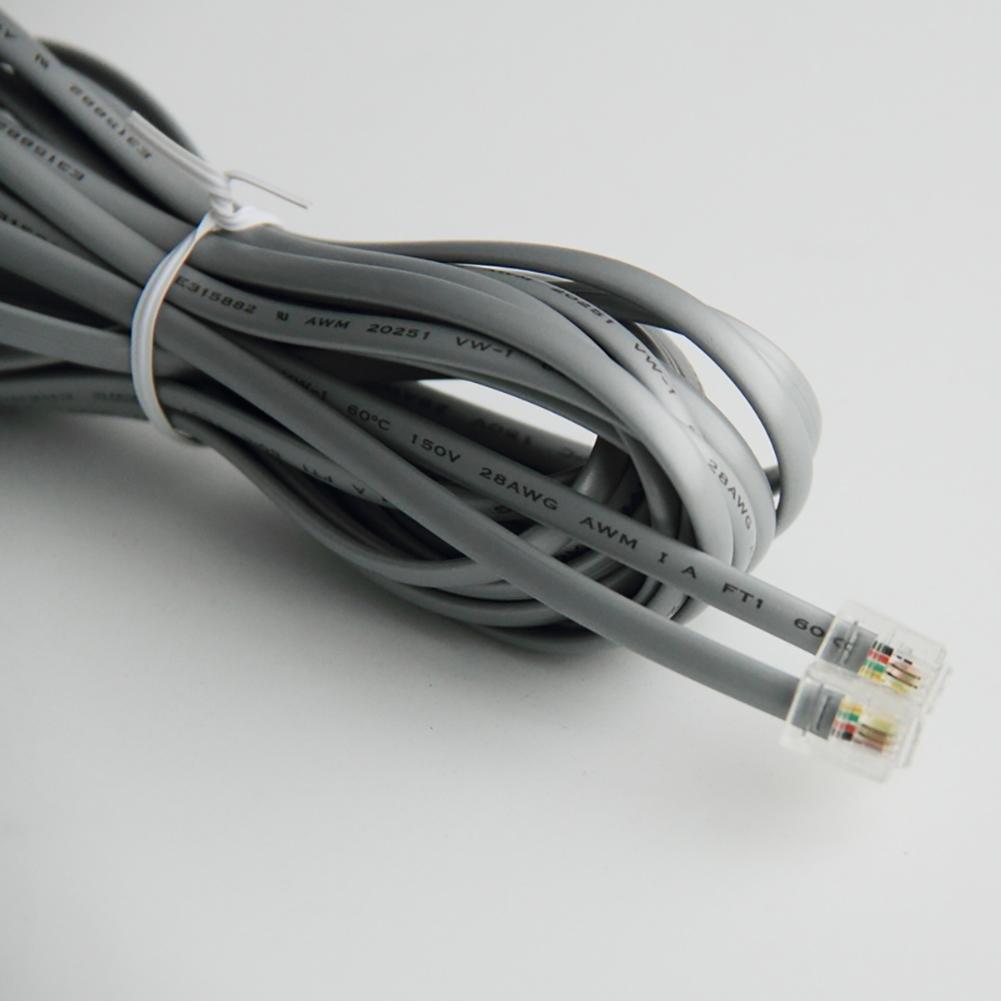 Linea telefonica, Linea di collegamento, Linea estesa, Cavo a cristallo testa a due fili (3 metri) ,