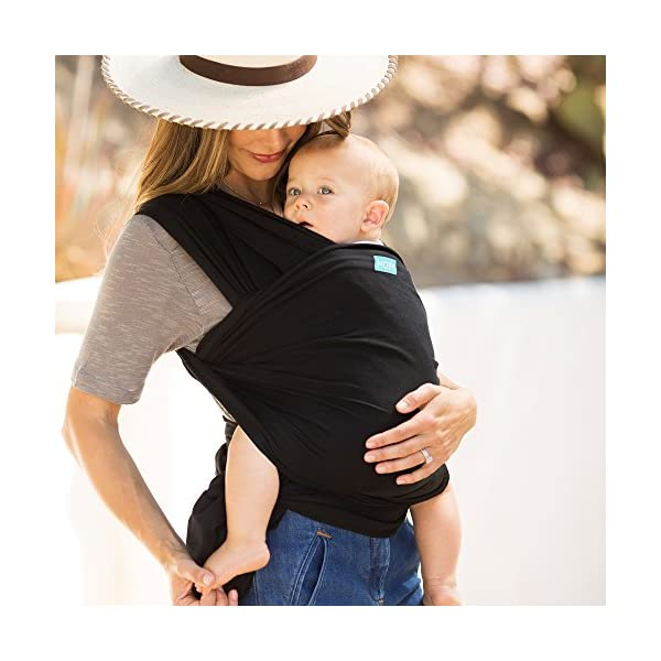 MOBY Evolution Baby Wrap Carrier for Newborn to Toddler up to 30lbs, Baby Sling from Birth, One Size Fits All, Breathable Stretchy Made from 70% Viscose 30% Cotton, Unisex Moby 70% Viscose / 30% Cotton Knit One-size-fits-all Grows with baby, from newborn to toddler 19