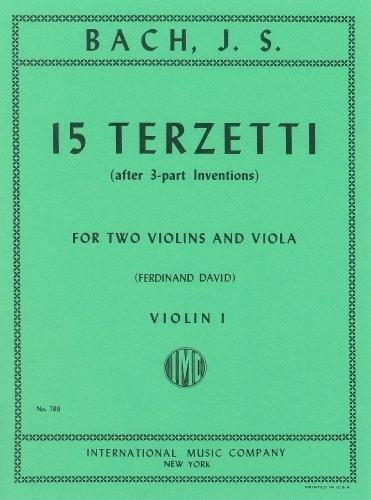 Bach: 15 Terzetti (arr. 2 Violins & Viola - Parts)