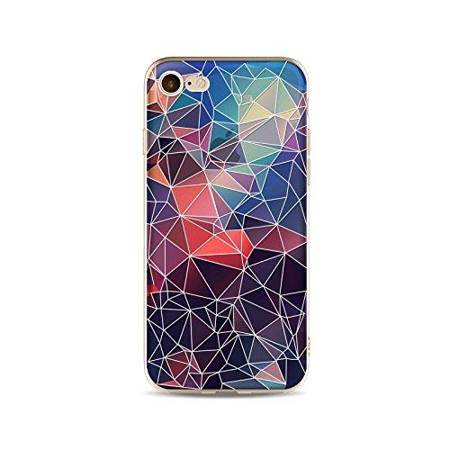 Coque iPhone 7 Plus Housse étui-Case Transparent Liquid Crystal en TPU Silicone Clair,Protection Ultra Mince Premium,Coque Prime pour iPhone 7 Plus-Relief stéréo-style 1 4