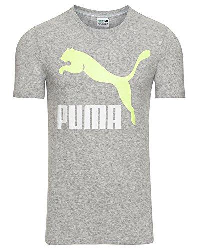Puma Herren Archive Logo Tee T-Shirt Light Gray Heather