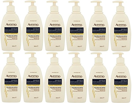 x12-aveeno-skin-relief-moisturiser-lotion-shea-butter-hydrate-24-hours-300ml