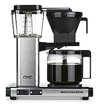 Brushed : Moccamaster KBG 741 AO-UK Plug Filter Coffee Machine, 1.25 Litre, 1520 W, Brushed Silver