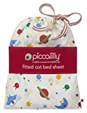 Piccalilly Windeltuch Bio Baumwolle Retro Platz Print Bettlaken für Babybett in eine Tasche