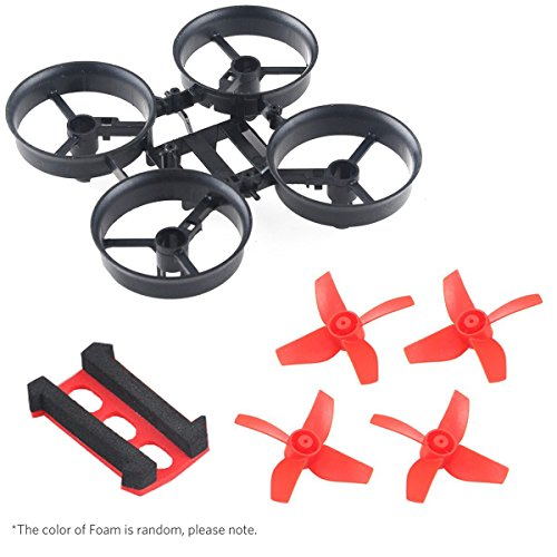 Crazepony-UK Tiny Whoop Quadcopter Micro Frame Blade Inductrix For Eachine E010 Frame with 4pcs Propellers Red