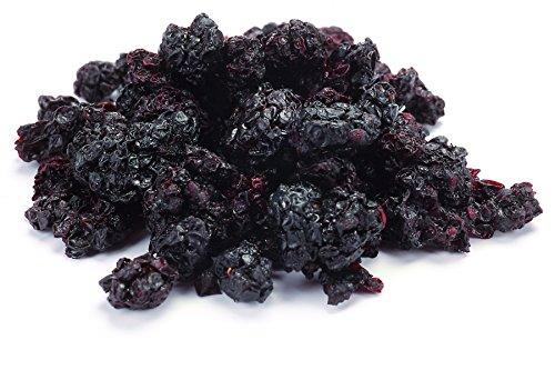 Aromatische Bio Brombeeren süß-säuerlich 250g für Tee, Müsli und als Snack, Wildsammlung aus Usbekistan, roh, Rohkost, ungesüßt, 100% Natur, sonnengetrocknet (nicht gefriergetrocknet)