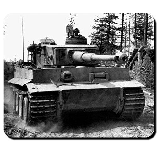 Tiger Panzer im Angriff Wh Kommandant Foto Bild Front Deutschland Panzerkampfwagen VI - Mauspad Mousepad Computer Laptop PC #9554