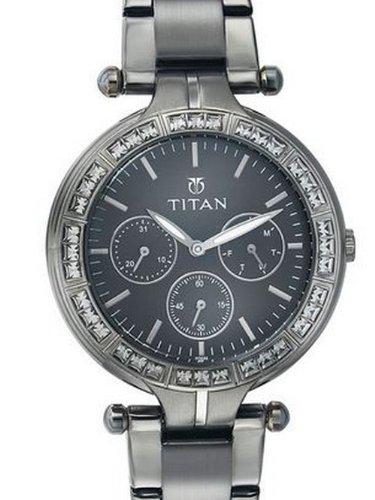 Titan Purple Analog Black Dial Women's Watch -9965QM01J