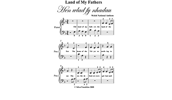 Land of My Fathers Welsh Anthem Beginner Piano Sheet Music eBook