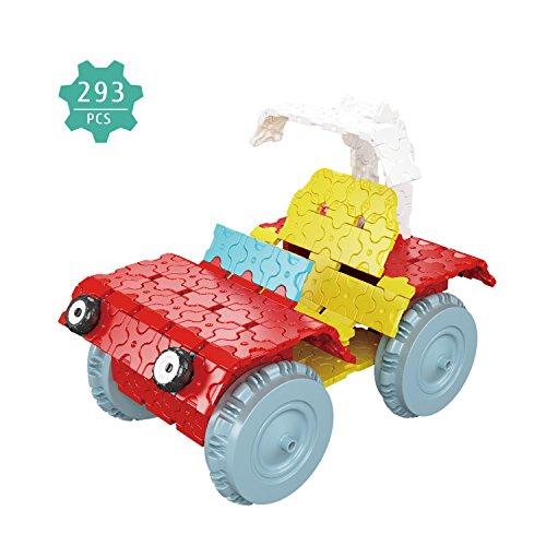 Preisvergleich Produktbild Bausteine, 293PCS mehrfarbige 3D-Puzzles Bausteine für Kinder (One Size, Golfwagen)