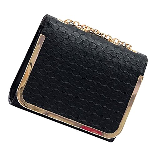 messaggero borsa - SODIAL(R)piccola borsa sacchetto dellunita di elaborazione Borse di cuoio del messaggero delle donne una spalla di colore della caramella della borsa epoca moda femminile rosa nero