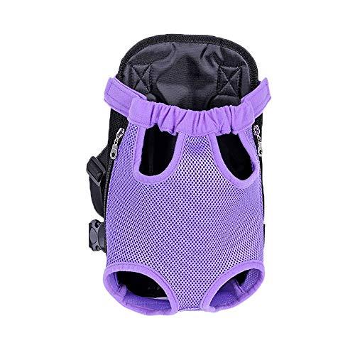 Lvcky Respirant en Maille Filet pour Animal Domestique Chien Sac de Transport Sac à Dos épaule Chats Chiens de Petite Taille Sacs de Voyage(violetL)