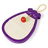 Yzibei Interessante Tipo Mouse Ball Sisal Cat Scratch Board Resistente all'Usura Cat Artw Grinding Springboard Interessanti Cat Toys (Colore : Viola)