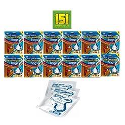 151 – Deumidificatori per piccoli ambienti, confezione da 2 sacchetti x 36 grammi