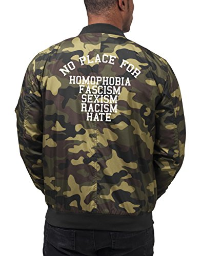 No Place For Shit Bomberjacke Camouflage Certified Freak-L