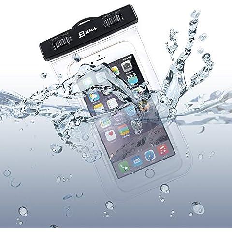 Impermeable Bolsa Funda, JETech Universal Impermeable Bolsa Funda para Brazo y Cuello Compatible con iPhone 6s, iPhone 6s Plus, iPhone 6/5/4, Samsung Gaxaly Note 5/4/3/2, S6 Edge, S6, S5, S4, HTC, y otro hasta 6 pulgadas Smartphones -