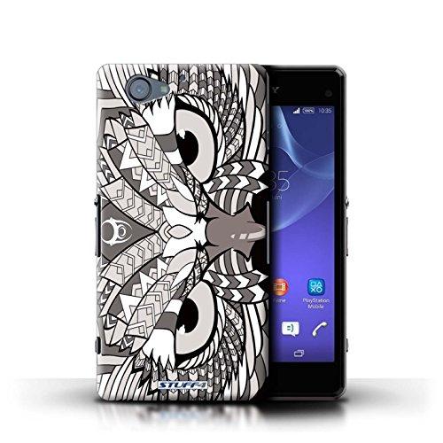 Kobalt® Imprimé Etui / Coque pour Sony Xperia A2 / Loup-Pourpre conception / Série Motif Animaux Aztec Hibou-Mono