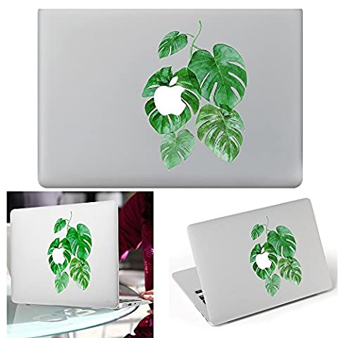 Macbook Aufkleber Abziehbild, YUDA Tech Abnehmbar Bl?tter Entwurf Vinyl Decal Haut Stickers Passt Perfekt f¨¹r Laptop MacBook Air/Pro/Retina 13 15 Zoll
