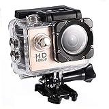 """wasserdichte Kamera DV,1080P Unterwasserkamera, Full HD Sportkamera Action Kamera wasserdichte mit 2"""" LCD-Bildschirm (Gold) -"""