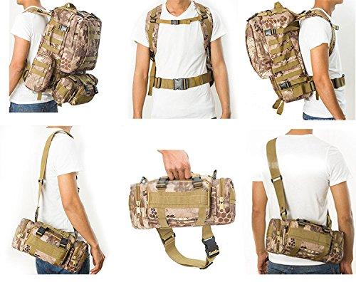 H Welt EU Outdoor Military Molle Army Tactical Rucksack Rucksack Sport Camping Wandern Tasche DE