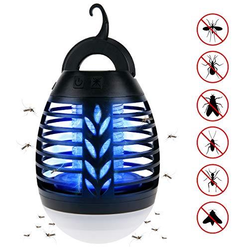 ROVLAK Lámpara Antimosquitos Electrico USB UV Mosquitos Killer Lamp Exterior 2 en...