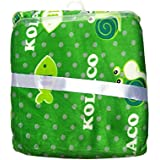N&M Double Layer Velvet Fleece Newborn Printed Baby Blanket (Green)