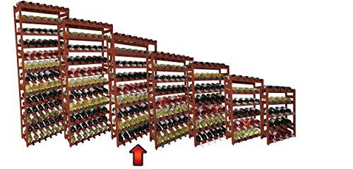 Lenmar Weinregal/Flaschenregal / Regal System RW-1-63 BRAUN Holz, Kiefer braun gebeitz -