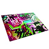 Whats On Your Wall.com Grün, Rosa Graffiti Glasschneidebrett Arbeitsplatte Saver-Schutz