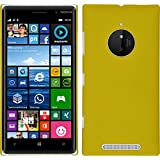 Funda Rígida para Nokia Lumia 830 - goma amarillo - Cover PhoneNatic Cubierta + protector de pantalla