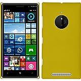 PhoneNatic Custodia Rigida Compatibile con Nokia Lumia 830 - gommata Giallo - Cover + Pellicola Protettiva