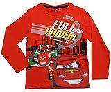 Cars Disney 3 Kollektion 2017 Langarmshirt 92 98 104 110 116 122 128 Shirt Lightning McQueen und Francesco Rot (Rot, 98-104)