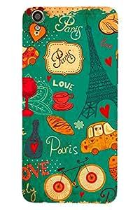 AMAN Lovely Paris 3D Back Cover for Oppo F1 Plus