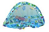 Olly Polly Kids 6 in 1 pure cotton high quailty imported new born rattles pillow Foldable baby large mosquito net bedding set bassinet-blue