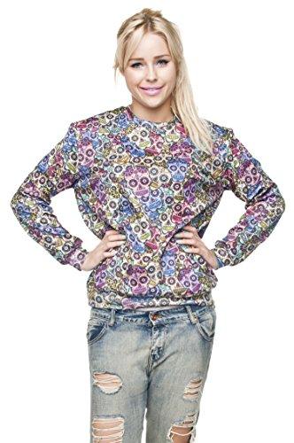 Funny Sweatshirts Company© Imprimé 3D Sweat-shirt Impression/Motif/Conception Taille Unique Unisexe Printemps Été 2017 MEXICAN SCULL 29789