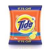 #3: Tide Extra Power Detergent Washing Powder - 6kg (Lemon and Mint, Rupees 75 Off)