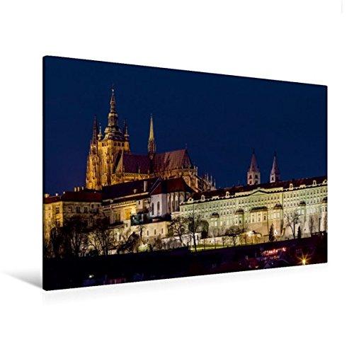 Hradschin (Calvendo Premium Textil-Leinwand 120 cm x 80 cm quer, Der Hradschin - die Prager Burg | Wandbild, Bild auf Keilrahmen, Fertigbild auf echter Leinwand, Leinwanddruck Orte Orte)