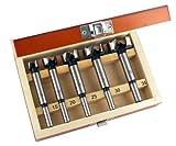 ENT 5-tlg. Forstnerbohrer Set WS Ø 15-20 - 25-30 - 35 mm - Bohrer für einfaches Bohren von Sacklöchern in Weichholz