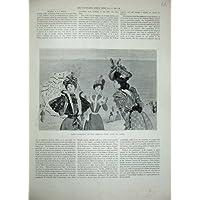 Signore 1897 di Virot dei Cappelli della Spiaggia del Modo delle Donne di (Cappelli Vittoriani Per Le Donne)
