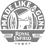 #10: isee360 Made like a gun Grey STICKER DECAL STICKER for Royal Enfield BULLET/BIKE STICKER (11.5 Cm X 11.5 Cm)